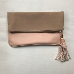 Who what wear blush clutch